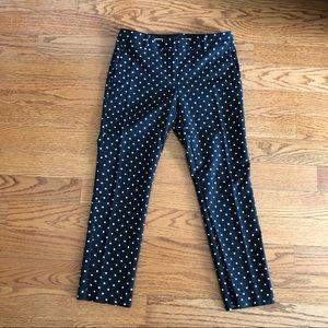 Ann Taylor Polk-a-dot cropped pants